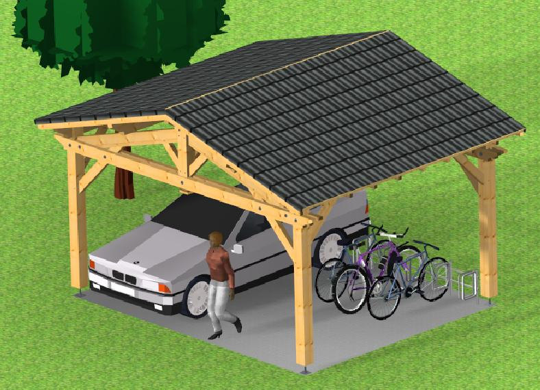 Garage 2 pentes  Farm SOCAB vue 3d