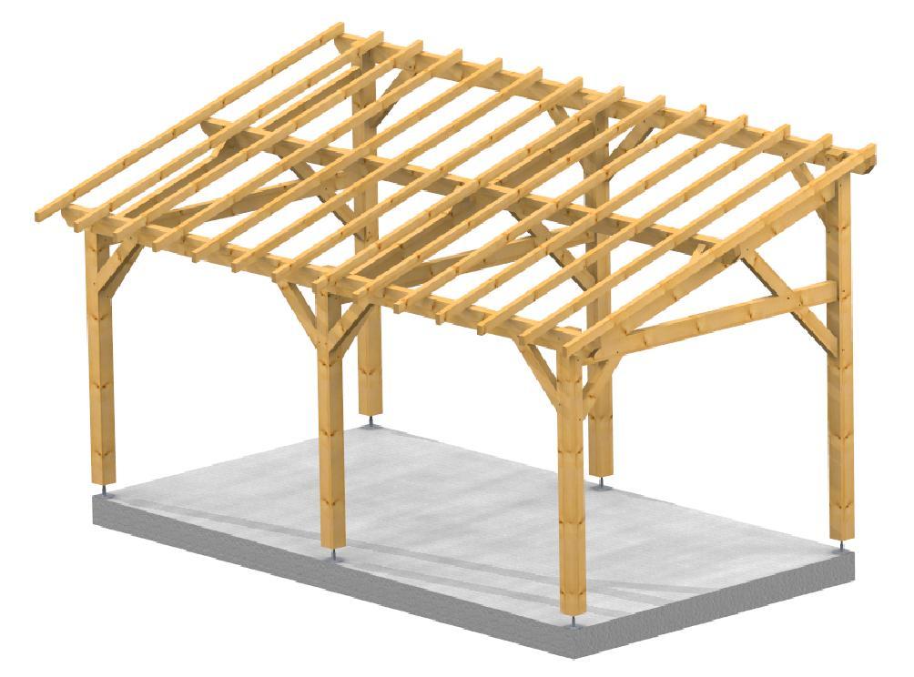 Auvent 1 pente City SOCAB 3d structure