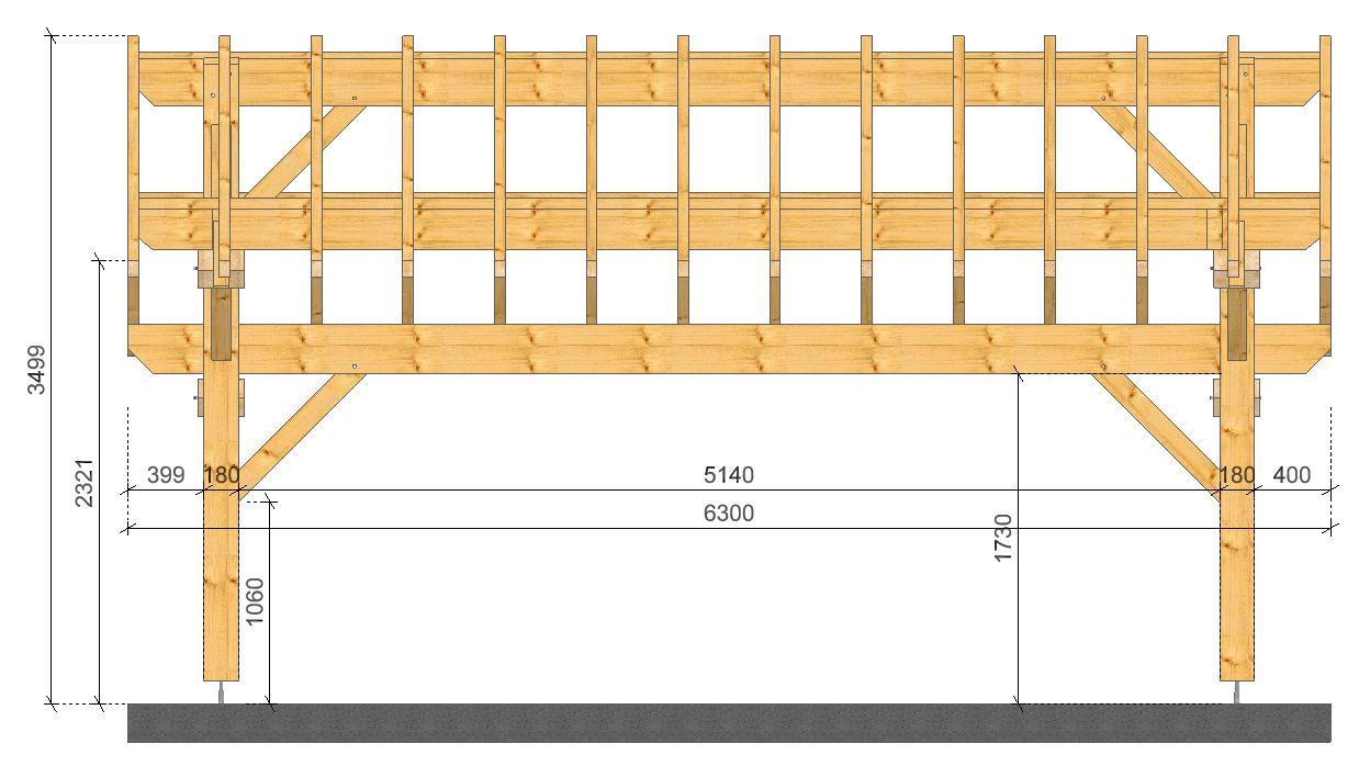 carport 2 voitures socab. Black Bedroom Furniture Sets. Home Design Ideas