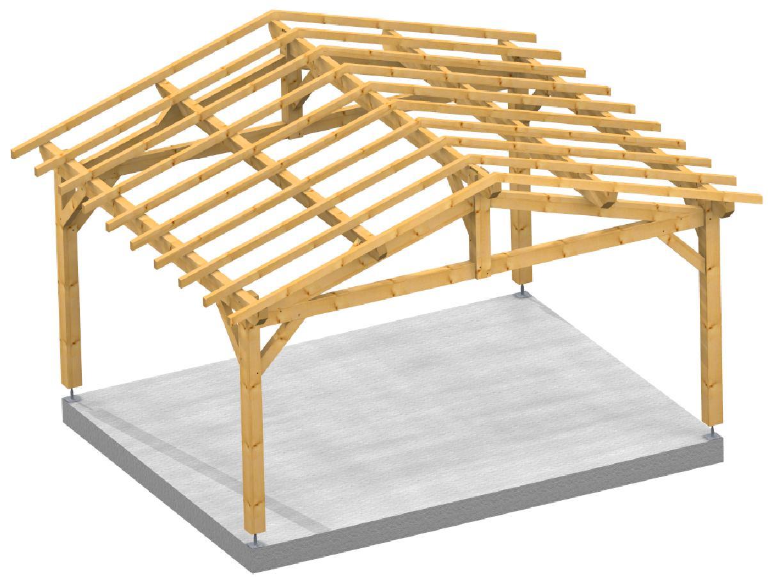 Garage 2 pentes City SOCAB City 3d structure