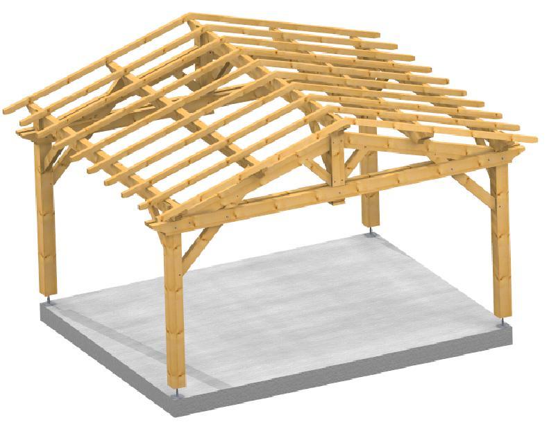 Garage 2 pentes Farm 3d structure