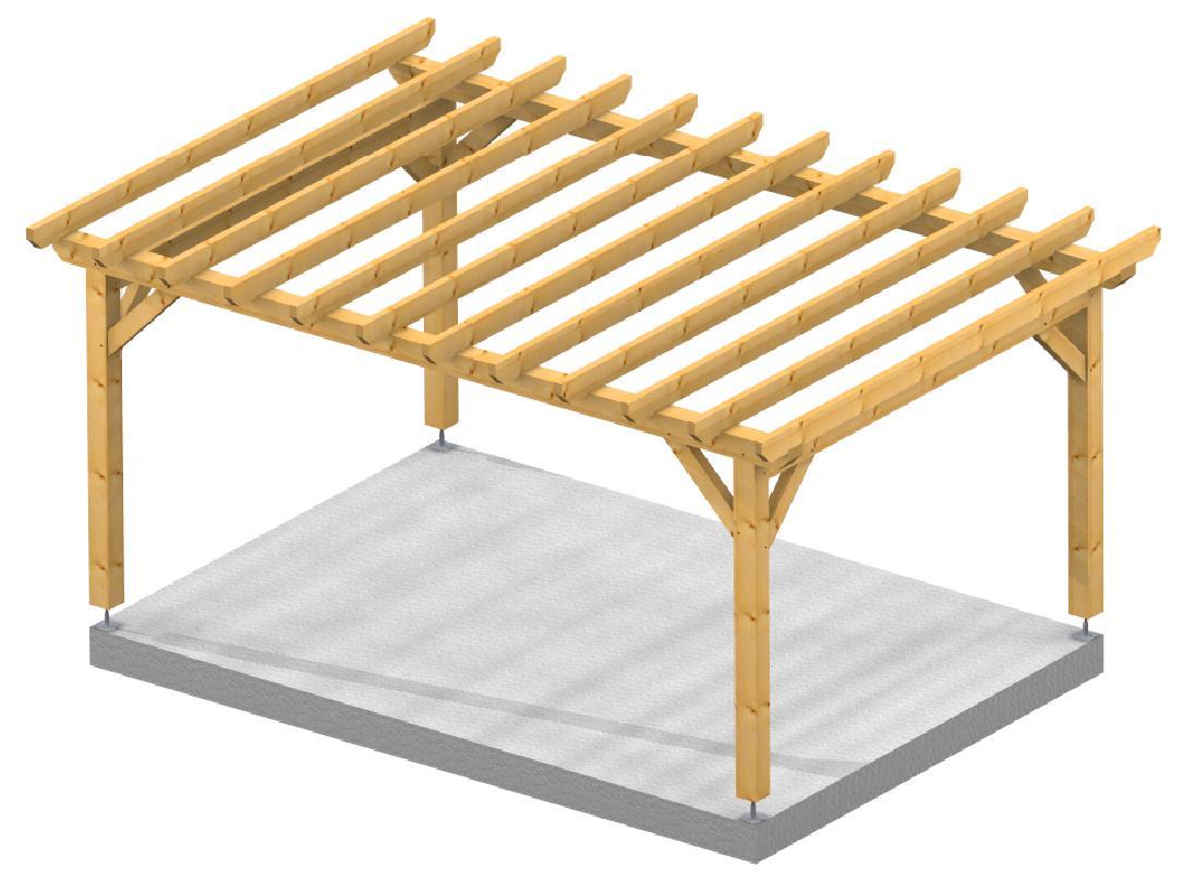 Pergola 3.50x5.00m SOCAB 3d structure