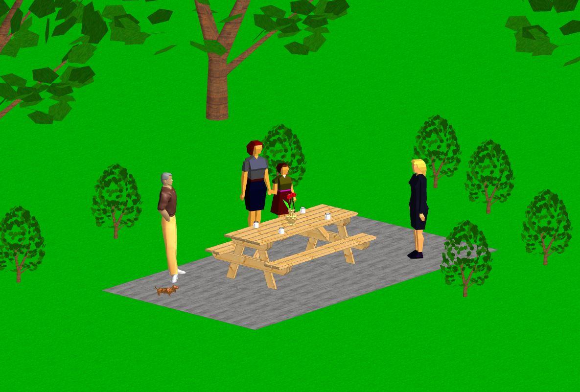 Table de campingvue 3D